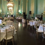 Tables for wedding guests