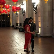 Bride and groom at Chinese wedding