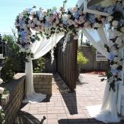 Flower arch at wedding