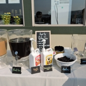Boba Tea station at event