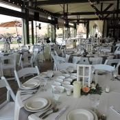 Event tables set for dinner