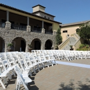 Chairs for guests at wedding venue