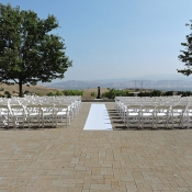 Outdoor wedding venue with beautiful view