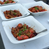 Bowls of food for event guests