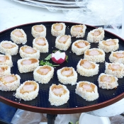 Appetizers at event or wedding