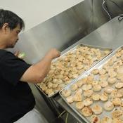 Ginger Cafe preparing dumplings for event