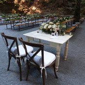 Head table at wedding