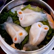 Sea bass dumpling